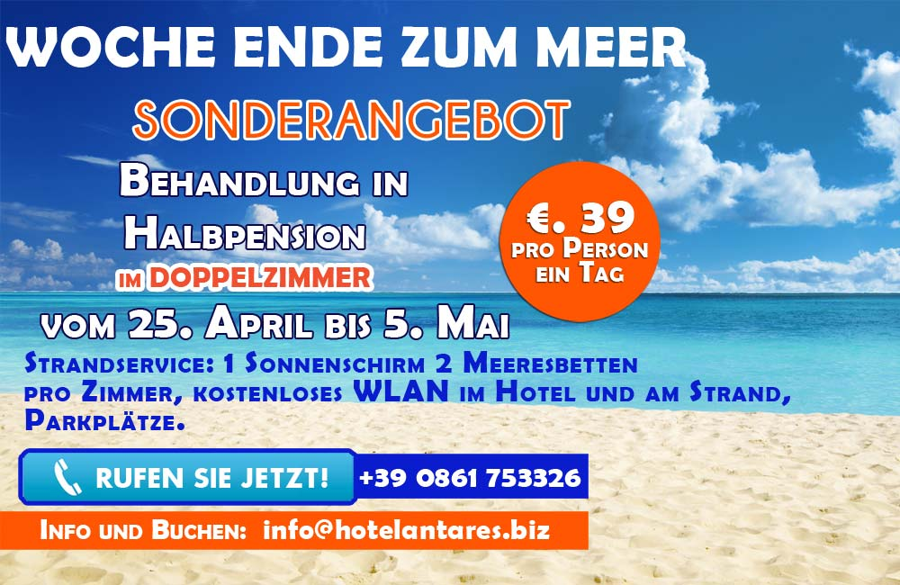 Promotion April/Mai - Hotel Antares